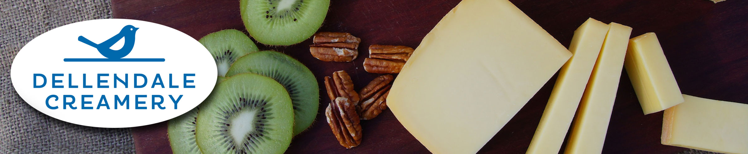 Cheese, pecans and Kiwi fruit